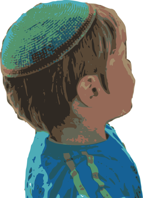 Transparent Jewish Hair Face Head Clipart for Religion