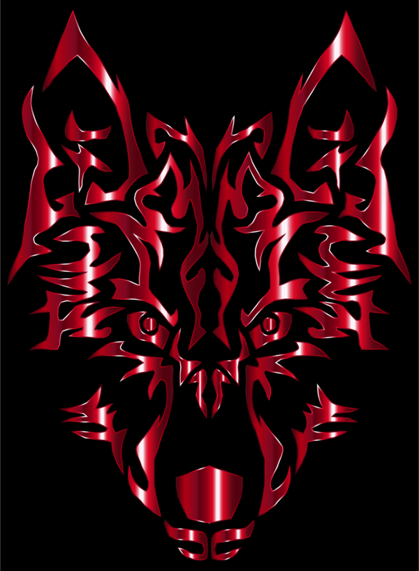Transparent Wolf Demon Symmetry Visual Arts Clipart for Animals