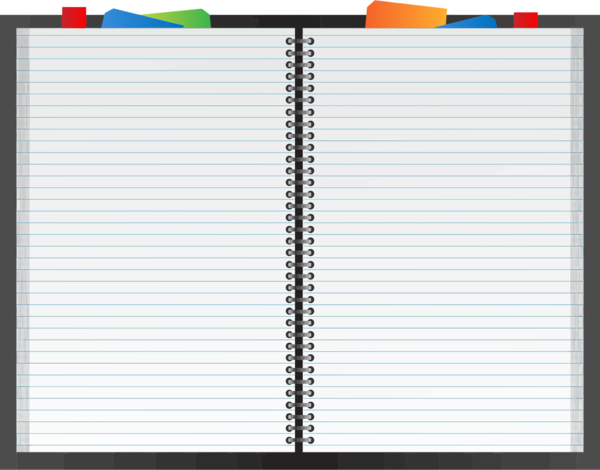 Transparent Book Line Notebook Clipart for School