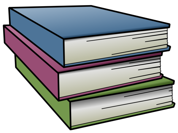 Transparent Book Line Material Furniture Clipart for School