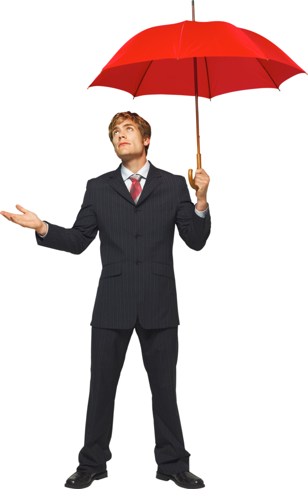 Transparent Suit Umbrella Standing Gentleman Clipart for Clothing