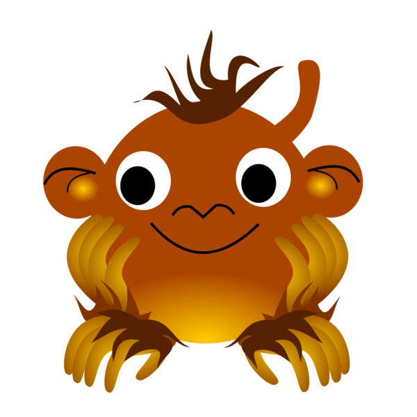 Transparent Monkey Cartoon Clipart for Animals