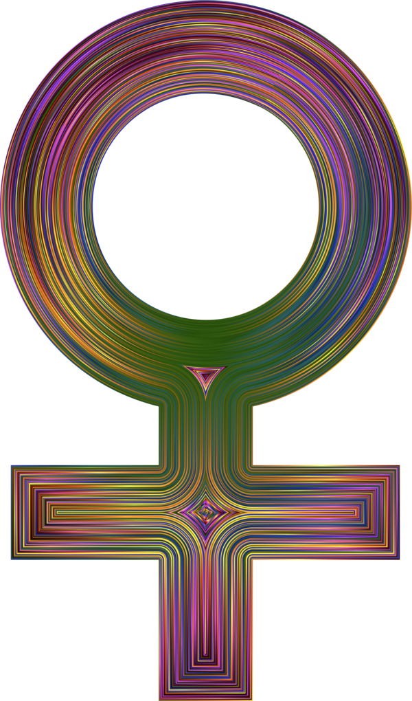 Transparent Woman Cross Line Symbol Clipart for People