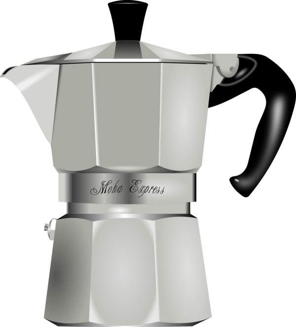 Transparent Coffee Kettle Cup Moka Pot Clipart for Drink