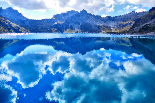 Transparent Water Reflection Nature Sky Clipart for Nature