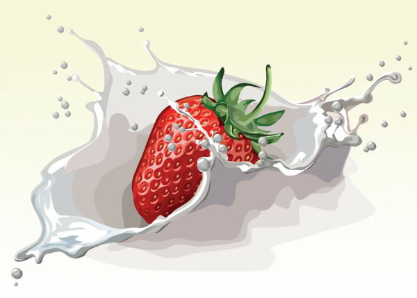 Transparent Milk Strawberry Strawberries Fruit Clipart for Drink