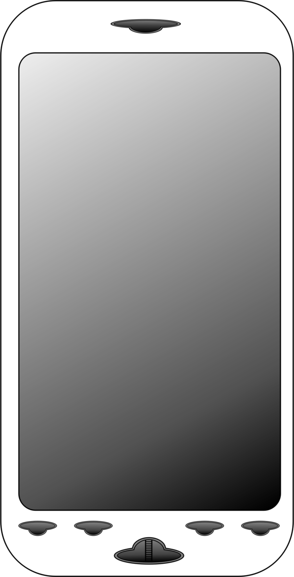 Transparent Phone Technology Screen Black And White Clipart for Business
