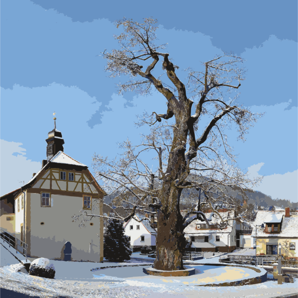 Transparent House Winter Snow Tree Clipart for Buildings
