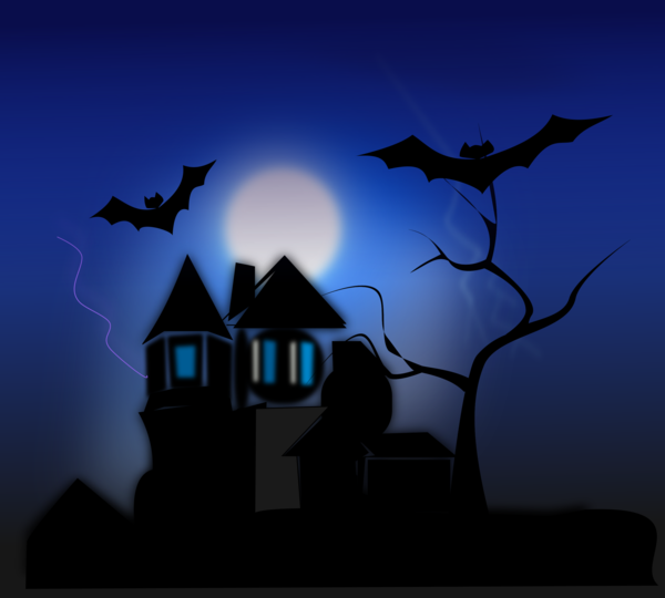 Transparent Halloween Sky Silhouette Darkness Clipart for Holidays