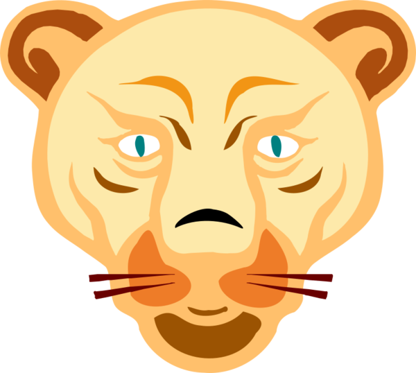 Transparent Lion Face Hair Facial Expression Clipart for Animals