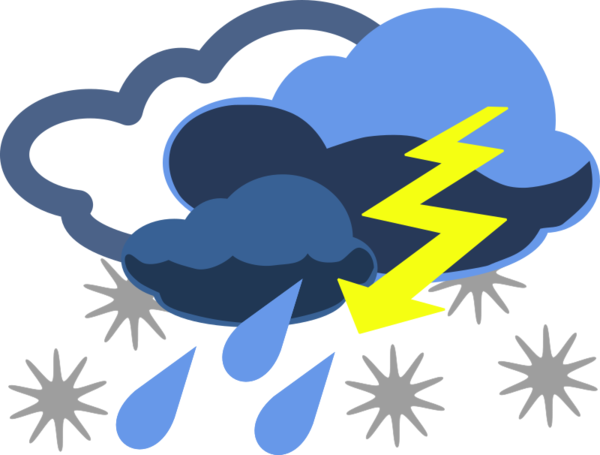 Transparent Storm Line Silhouette Logo Clipart for Weather