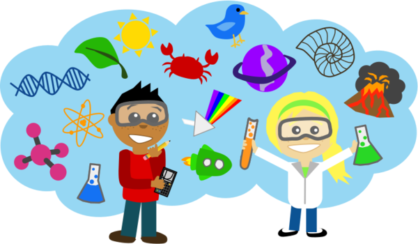 Transparent Scientist Cartoon Technology Line Clipart for Occupations