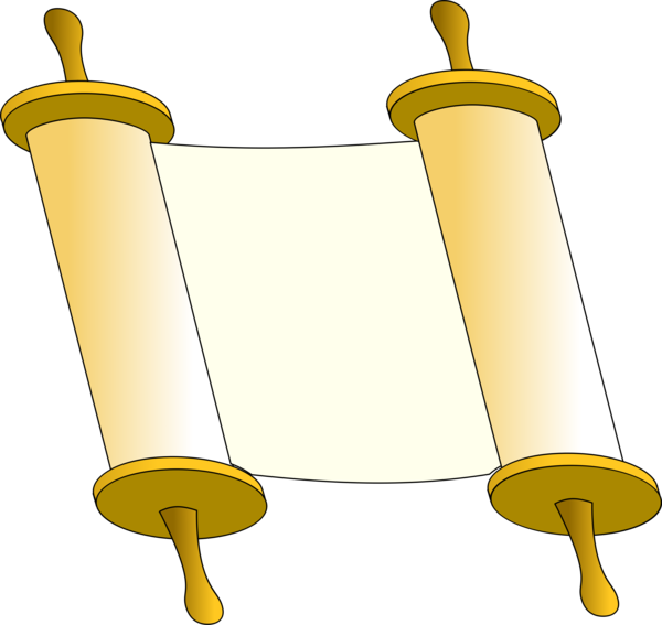 Transparent Torah Line Clipart for Religion