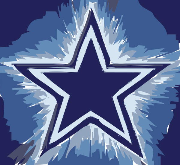 Transparent Football Star Symmetry Electric Blue Clipart for Sports