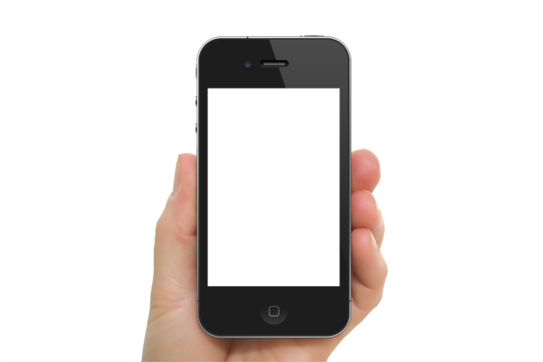 Transparent Phone Mobile Phone Gadget Communication Device Clipart for Business