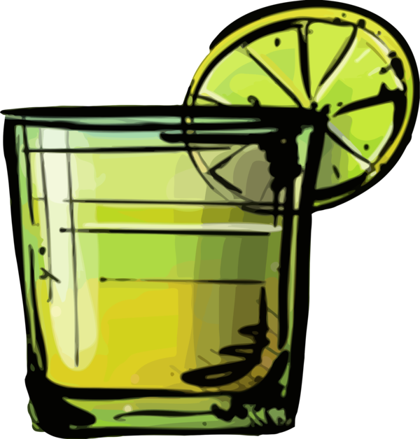 Transparent Whiskey Line Plant Clipart for Drink