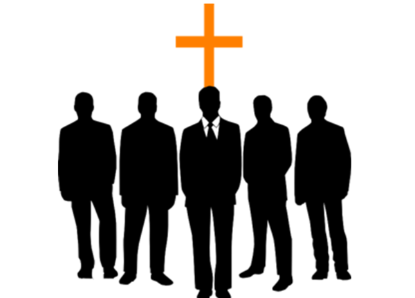 Transparent Christian Social Group Standing Text Clipart for Religion
