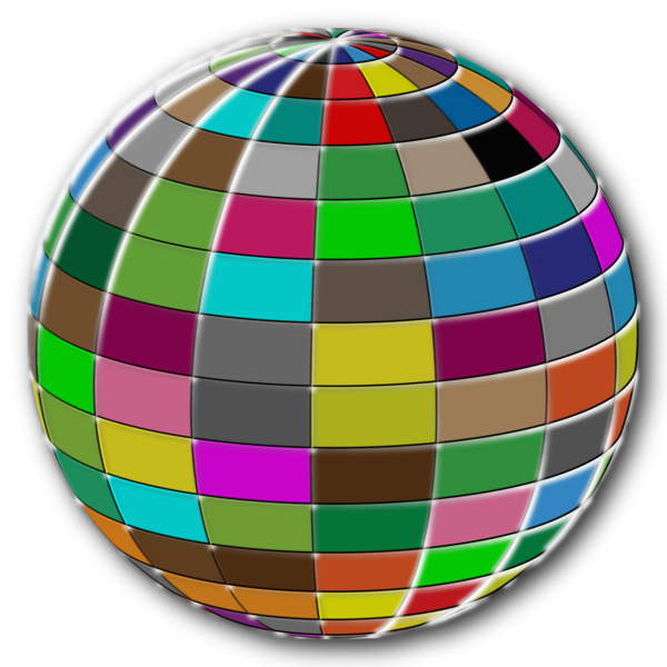 Transparent Volleyball Sphere Easter Egg Circle Clipart for Sports