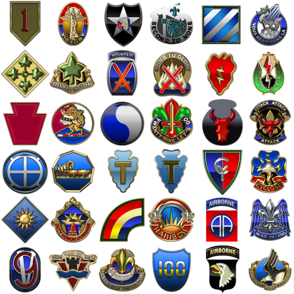Transparent Army Badge Crest Symbol Clipart for Military