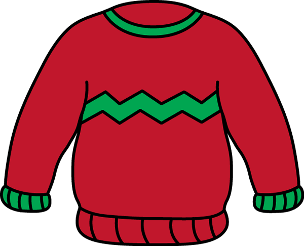 Transparent Christmas Clothing Sleeve Outerwear Clipart for Holidays