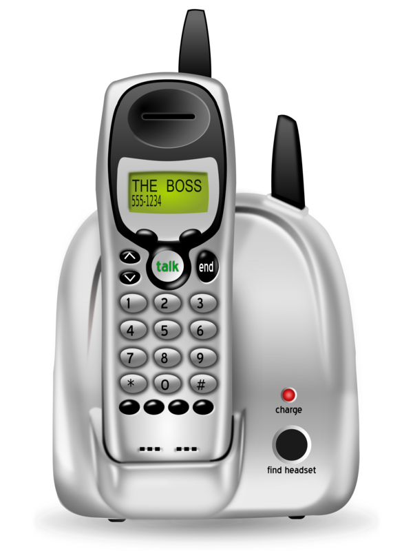 Transparent Phone Telephony Technology Answering Machine Clipart for Business