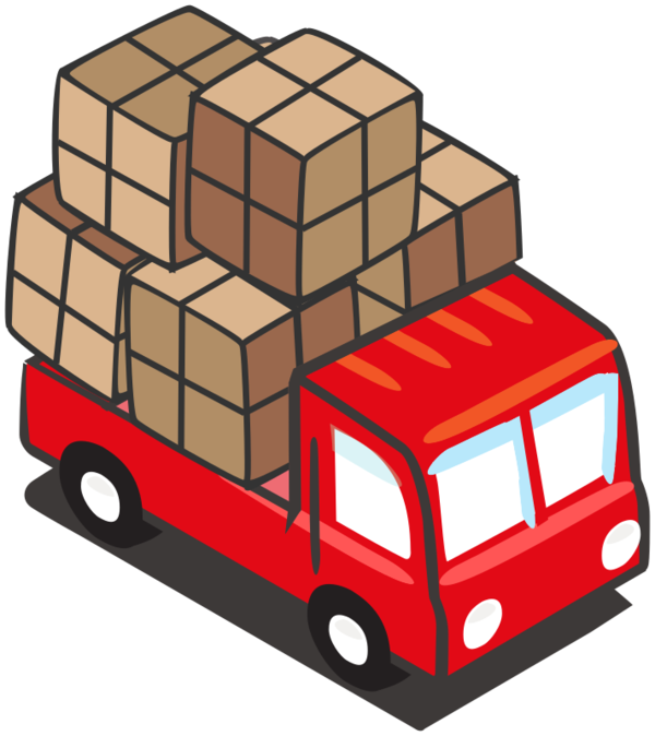 Transparent Delivery Vehicle Transport Car Clipart for Business