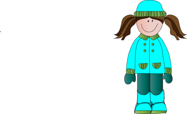 Transparent Winter Clothing Cartoon Boy Clipart for Nature