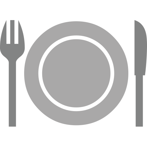 Transparent Steak Text Tableware Circle Clipart for Food