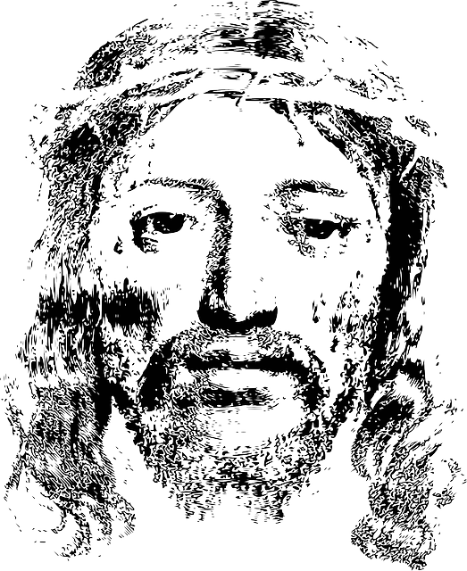 Transparent Christian Face Black And White Nose Clipart for Religion