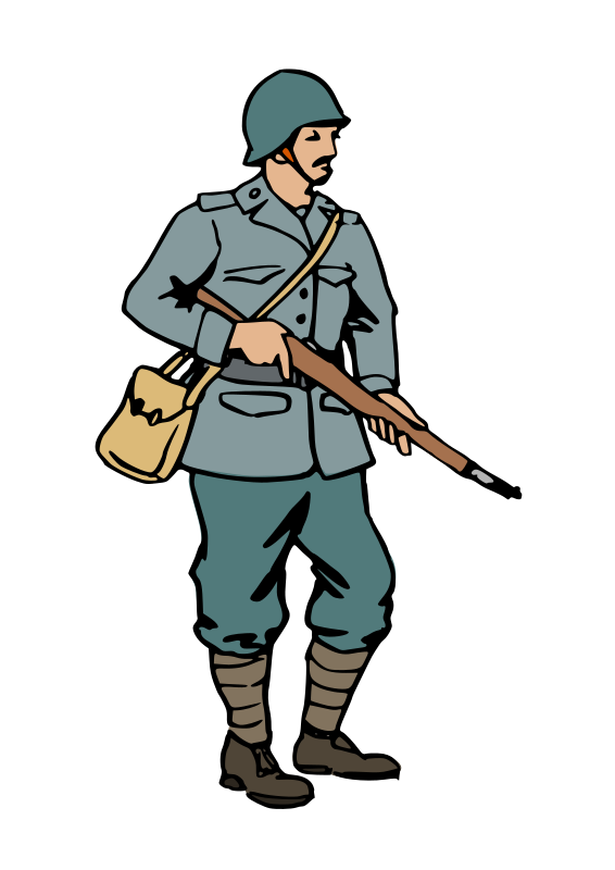 Transparent Soldier Standing Soldier Male Clipart for Military