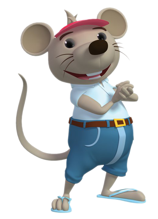 Transparent Hat Mascot Cartoon Mouse Clipart for Clothing