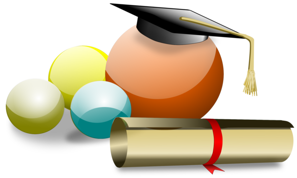 Transparent Graduation Angle Clipart for School