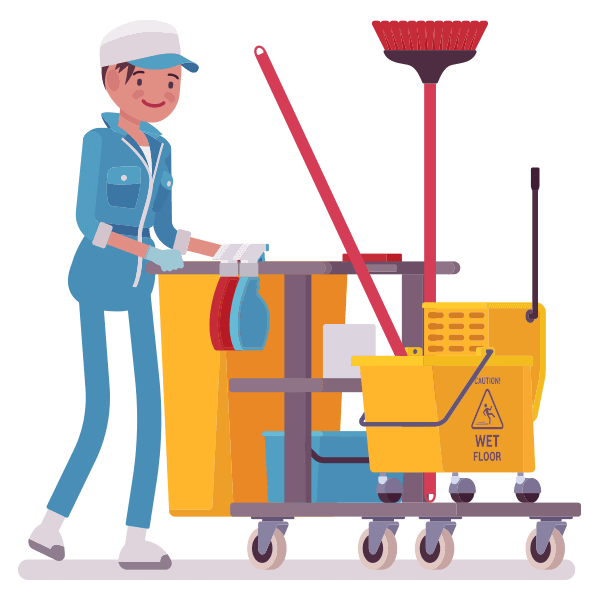 Transparent Janitor Line Technology Toy Clipart for Occupations