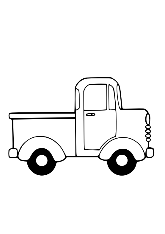 Transparent Truck Car Transport Line Art Clipart for Transportation