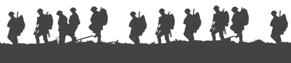 Transparent Soldier Black And White Silhouette Text Clipart for Military