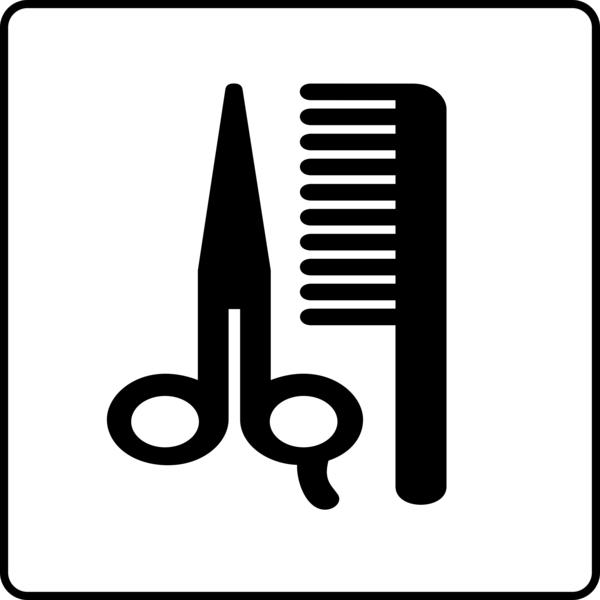 Transparent Barber Black And White Text Line Clipart for Occupations