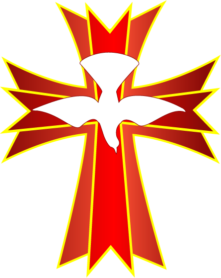 Transparent Church Symmetry Leaf Cross Clipart for Religion