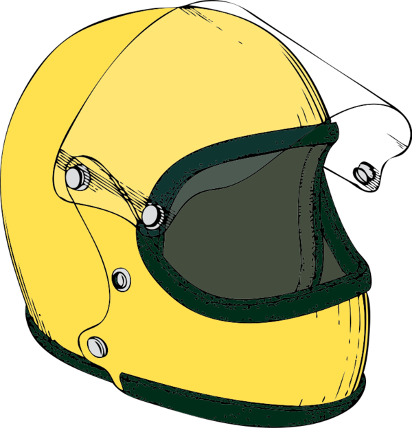 Transparent Bicycle Helmet Headgear Personal Protective Equipment Clipart for Transportation