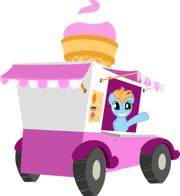 Transparent Ice Cream Toy Vehicle Clipart for Food