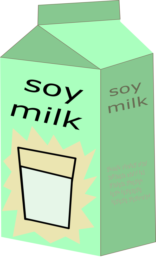 Transparent Milk Text Line Carton Clipart for Drink
