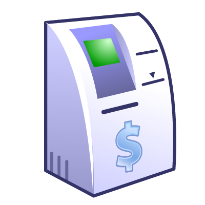 Transparent Atm Technology Interactive Kiosk Multimedia Clipart for Money