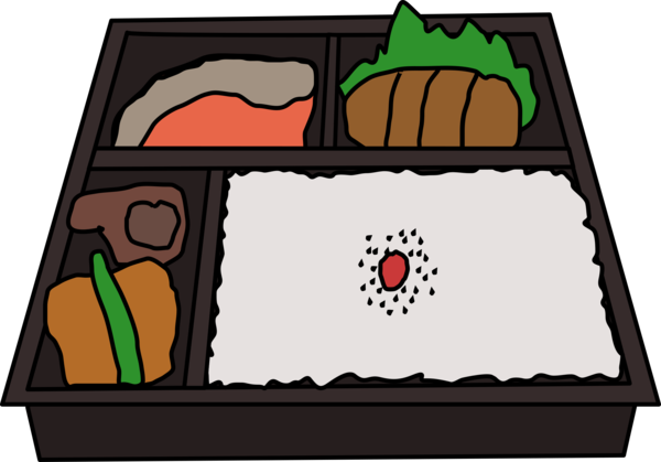 Transparent Lunch Cartoon Area Line Clipart for Food