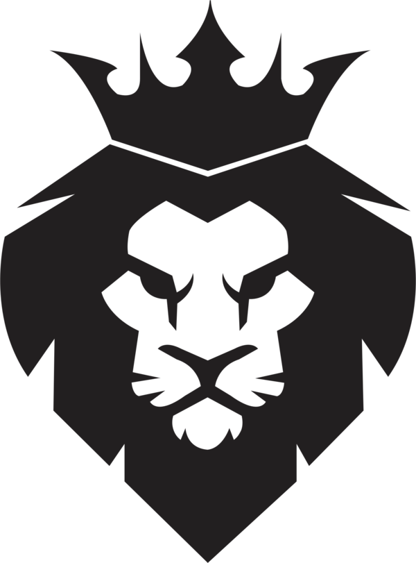 Transparent Lion Black And White Logo Symbol Clipart for Animals