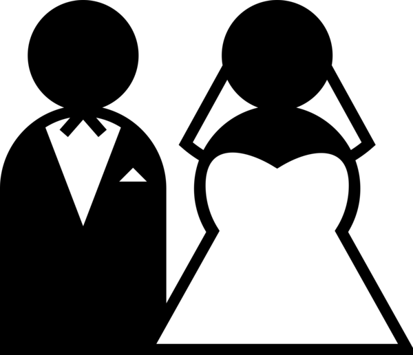 Transparent Wedding Black And White Silhouette Male Clipart for Occasions