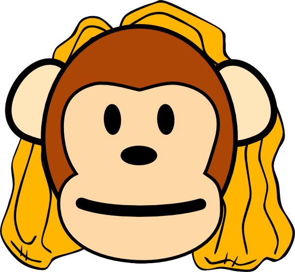 Transparent Monkey Smile Snout Line Clipart for Animals