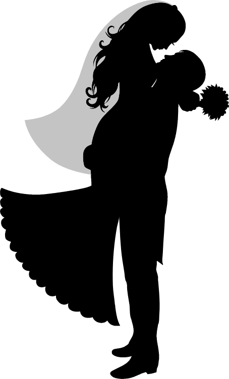 Transparent Wedding Silhouette Black And White Joint Clipart for Occasions