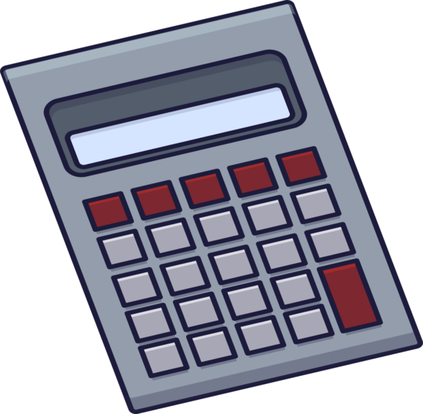 Transparent Office Calculator Office Equipment Telephony Clipart for Business