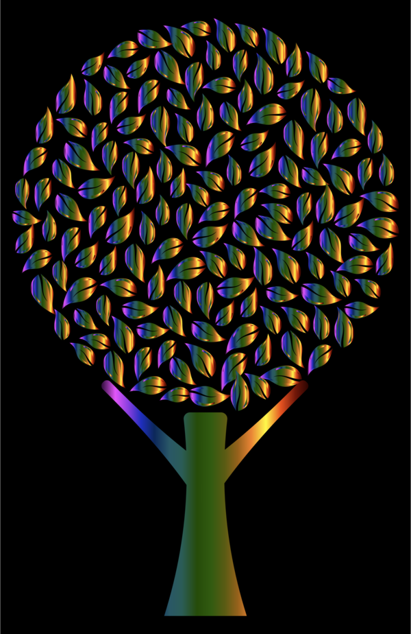 Transparent Tree Symmetry Tree Clipart for Nature
