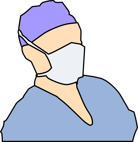 Transparent Doctor Nose Head Hand Clipart for Occupations
