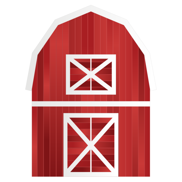 Transparent Farmer Barn Angle Symbol Clipart for Occupations